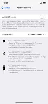 Como usar seu aparelho como um roteador de rede Wi-Fi - Apple iPhone XR - Passo 3