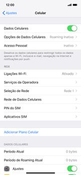 Como ativar e desativar o roaming de dados - Apple iPhone XR - Passo 3