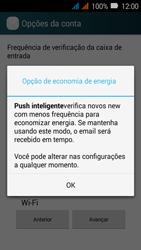 Como configurar seu celular para receber e enviar e-mails - Huawei Y3 - Passo 8