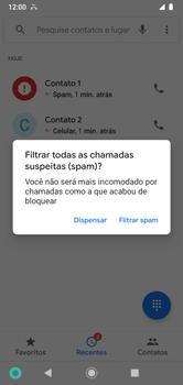 Como bloquear chamadas de um número específico - Motorola Moto G7 Power - Passo 8