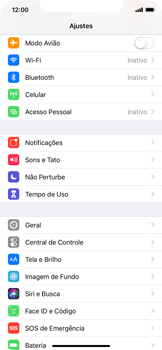 Como ativar e desativar uma rede de dados - Apple iPhone XR - Passo 2