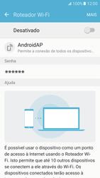 Como usar seu aparelho como um roteador de rede Wi-Fi - Samsung Galaxy S7 - Passo 6