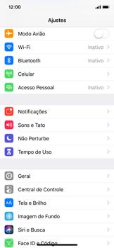 Como ativar e desativar uma rede de dados - Apple iPhone X - Passo 2