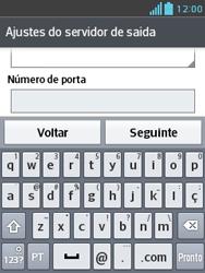 Como configurar seu celular para receber e enviar e-mails - LG Optimus L3 II - Passo 16