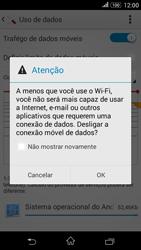 Como ativar e desativar uma rede de dados - Sony Xperia E4G - Passo 5