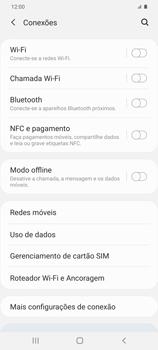 Como ativar e desativar o roaming de dados - Samsung Galaxy S20 Plus 5G - Passo 4