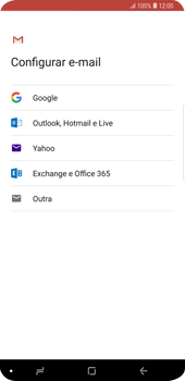 Como configurar seu celular para receber e enviar e-mails - Samsung Galaxy S9 Plus - Passo 8