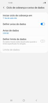 Como definir um aviso e limite de uso de dados - Samsung Galaxy A11 - Passo 6