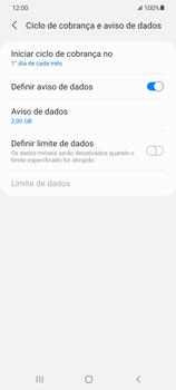 Como definir um aviso e limite de uso de dados - Samsung Galaxy S21 Ultra 5G - Passo 8