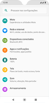Como usar seu aparelho como um roteador de rede Wi-Fi - Motorola Moto G7 - Passo 3