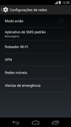 Como ativar e desativar uma rede de dados - Motorola Moto G (1ª Geração) - Passo 4