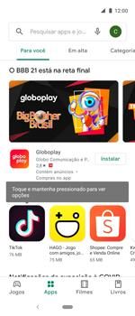 Como baixar aplicativos - Motorola One Action - Passo 5