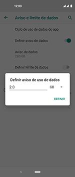 Como definir um aviso e limite de uso de dados - Motorola One Vision - Passo 9