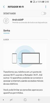 Como usar seu aparelho como um roteador de rede Wi-Fi - Samsung Galaxy J6 - Passo 6