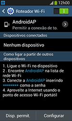 Como usar seu aparelho como um roteador de rede Wi-Fi - Samsung Galaxy Grand Neo - Passo 10