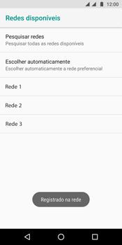 Como selecionar o tipo de rede adequada - Motorola Moto G6 Plus - Passo 11