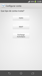 Como configurar seu celular para receber e enviar e-mails - Sony Xperia SP - Passo 7