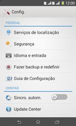 Como restaurar as configurações originais do seu aparelho - Sony Xperia E1 - Passo 4