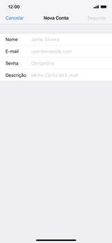 Como configurar seu celular para receber e enviar e-mails - Apple iPhone XR - Passo 7