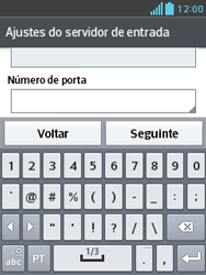 Como configurar seu celular para receber e enviar e-mails - LG Optimus L3 II - Passo 13