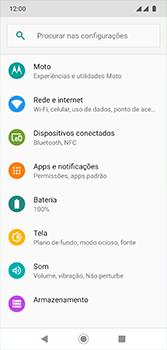 Como ativar e desativar o roaming de dados - Motorola Moto G7 - Passo 3