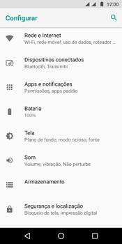 Como ativar e desativar uma rede de dados - Motorola Moto G6 Play - Passo 3