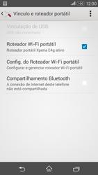 Como usar seu aparelho como um roteador de rede Wi-Fi - Sony Xperia E4G - Passo 13