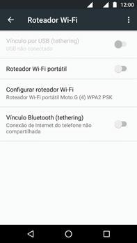 Como usar seu aparelho como um roteador de rede Wi-Fi - Motorola Moto G (4ª Geração) - Passo 5