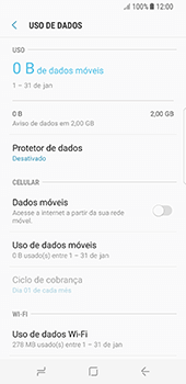 Como ativar e desativar uma rede de dados - Samsung Galaxy S8 - Passo 6