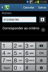Como bloquear chamadas de um número específico - Samsung Galaxy Young - Passo 12