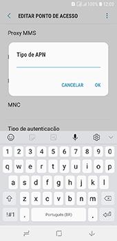 Como configurar a internet do seu aparelho (APN) - Samsung Galaxy J6 - Passo 13