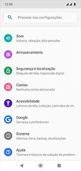 Como encontrar o número de IMEI do seu aparelho - Motorola Moto G7 - Passo 3