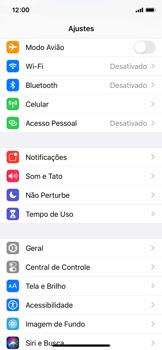 Como ativar e desativar o roaming de dados - Apple iPhone X - Passo 2