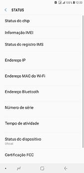 Como encontrar o número de IMEI do seu aparelho - Samsung Galaxy J8 - Passo 5