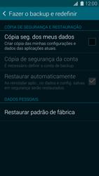 Como restaurar as configurações originais do seu aparelho - Samsung Galaxy S5 - Passo 5