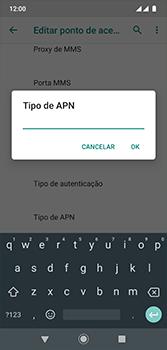 Como configurar a internet do seu aparelho (APN) - Motorola Moto G7 - Passo 13