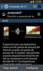 Como usar seu aparelho como um roteador de rede Wi-Fi - Samsung Galaxy Grand Neo - Passo 6