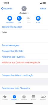Como bloquear chamadas de um número específico - Apple iPhone X - Passo 7