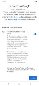 Como configurar seu celular para receber e enviar e-mails - Samsung Galaxy A20 - Passo 13