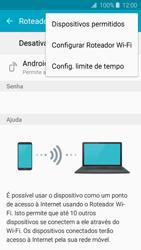 Como usar seu aparelho como um roteador de rede Wi-Fi - Samsung Galaxy J2 Duos - Passo 6