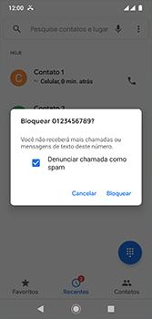 Como bloquear chamadas de um número específico - Motorola Moto G7 - Passo 7