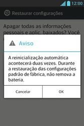 Como restaurar as configurações originais do seu aparelho - LG Optimus L5 - Passo 8