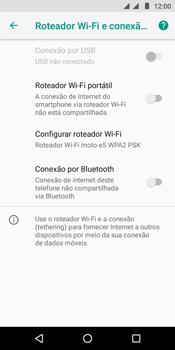 Como usar seu aparelho como um roteador de rede Wi-Fi - Motorola Moto E5 - Passo 8