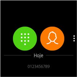 Como fazer uma ligação no Galaxy Watch - Samsung Galaxy Watch 3 - Passo 3