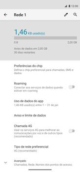 Como definir um aviso e limite de uso de dados - Motorola Moto G8 Power - Passo 5