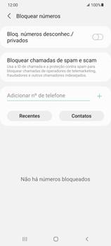 Como bloquear chamadas de um número específico - Samsung Galaxy S21+ 5G - Passo 8
