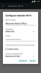 Como usar seu aparelho como um roteador de rede Wi-Fi - Motorola Moto C Plus - Passo 7