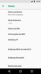 Como encontrar o número de IMEI do seu aparelho - Motorola Moto X4 - Passo 5