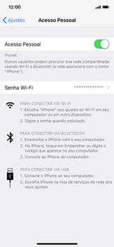 Como usar seu aparelho como um roteador de rede Wi-Fi - Apple iPhone X - Passo 7