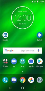 Como ativar e desativar uma rede de dados - Motorola Moto G6 Plus - Passo 1